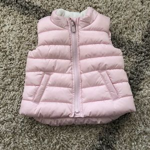 Old Navy Baby Girl Puffer Vest 6-12M